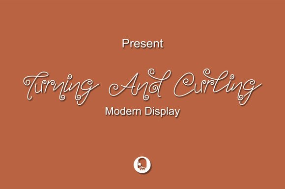 Turning and Curling Font By Ijem RockArt