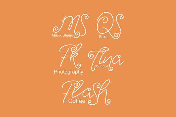 Turning and Curling Font By Ijem RockArt Image 3