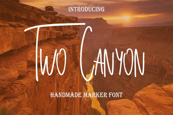 Print on Demand: Two Canyon Display Font By Only The Originals