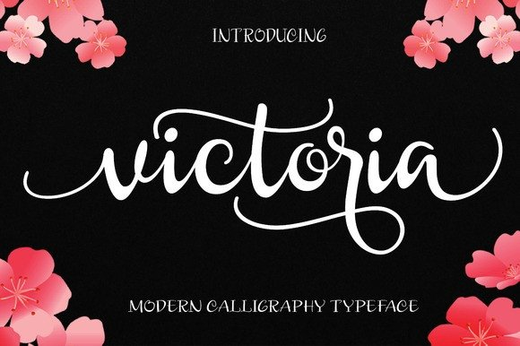 victoria font by byuly ayika creative fabrica