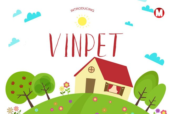 Print on Demand: Vinpet Display Font By Only The Originals