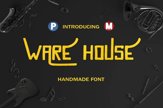 Print on Demand: Ware House Display Font By Only The Originals