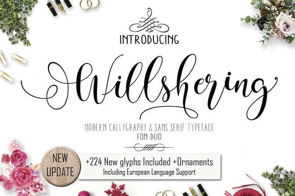 Print on Demand: Will Shering Script & Handwritten Font By Moriztype - Image 1