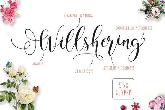 Print on Demand: Will Shering Script & Handwritten Font By Moriztype - Image 9