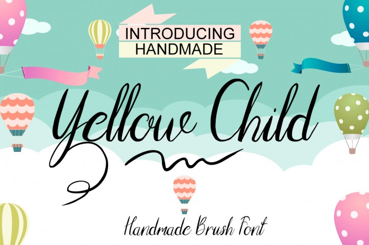 Print on Demand: Yellow Child Script & Handwritten Font By Only The Originals