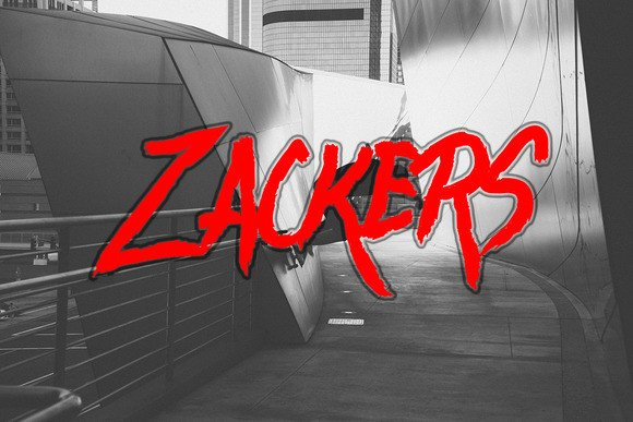 Zackers Brush Font By Ijem RockArt