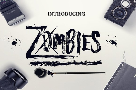 Print on Demand: Zombies Display Font By Only The Originals - Image 1