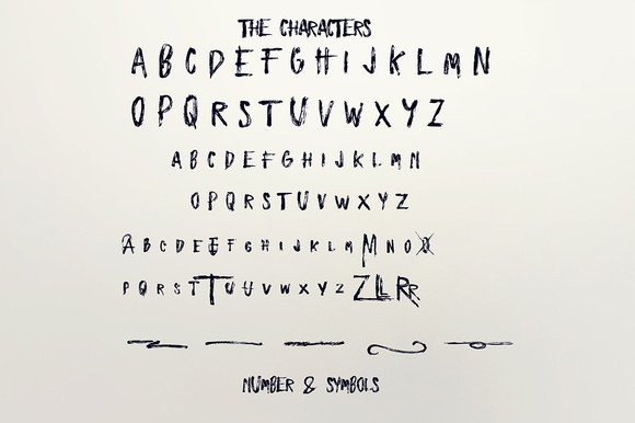 Print on Demand: Zombies Display Font By Only The Originals - Image 5