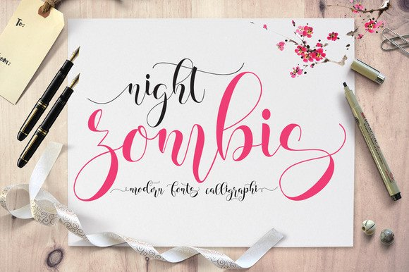 Print on Demand: Zombis Night Script & Handwritten Font By Moriztype - Image 1