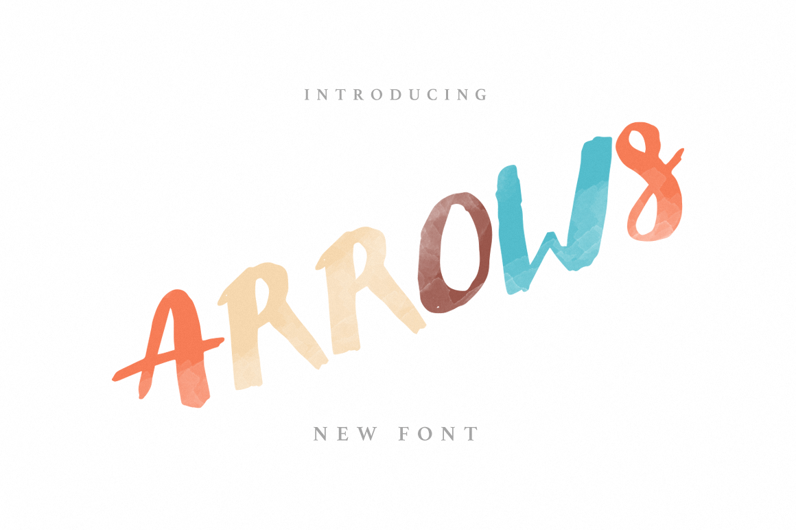 Print on Demand: Arrows Display Font By Noe Araujo