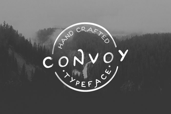 Print on Demand: Convoy Display Font By Noe Araujo