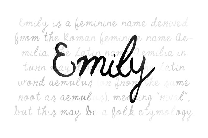 Print on Demand: Emily Script & Handwritten Font By Noe Araujo
