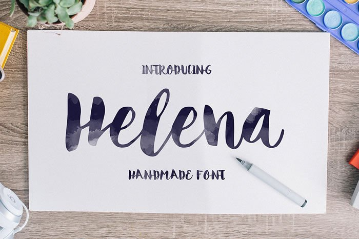 Print on Demand: Helena Script & Handwritten Font By Noe Araujo - Image 1