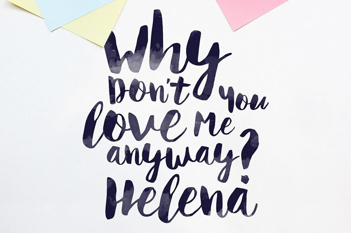 Print on Demand: Helena Script & Handwritten Font By Noe Araujo - Image 2