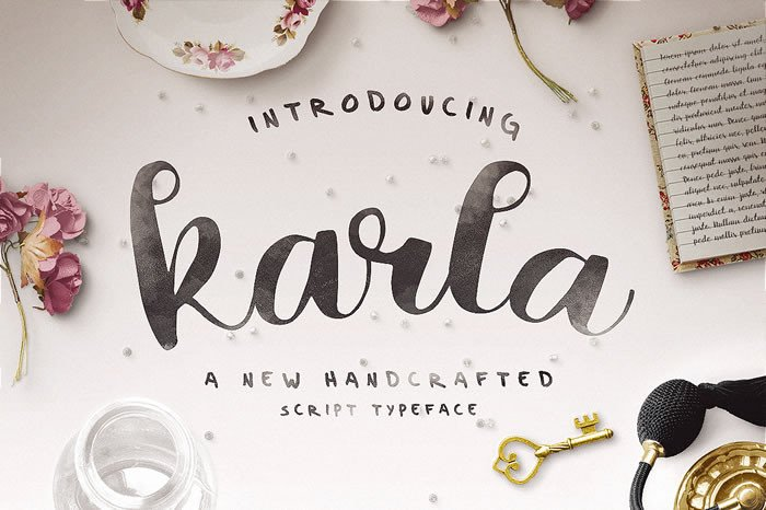 Print on Demand: Karla Script & Handwritten Font By Noe Araujo