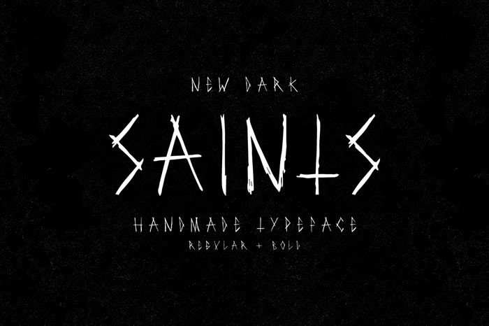 Print on Demand: Saints Display Font By Noe Araujo