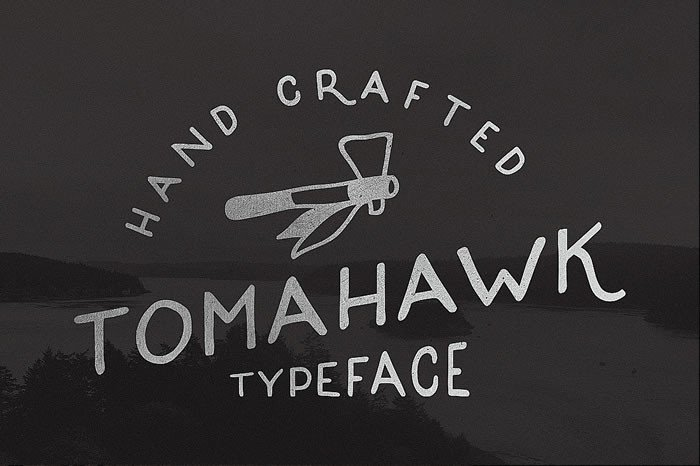 Print on Demand: Tomahawk Display Font By Noe Araujo - Image 1
