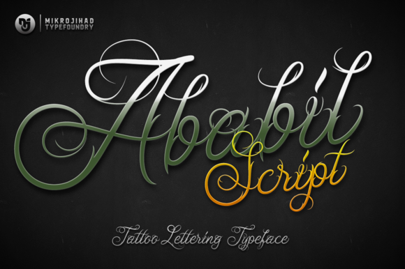 Ababil Script Standard Font By Mikrojihad Typefounder Image 1