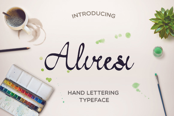 Print on Demand: Aliresi Script & Handwritten Font By Mellow Design Lab