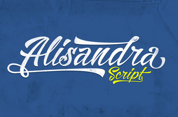 Print on Demand: Alisandra Script & Handwritten Font By Mikrojihad Typefounder