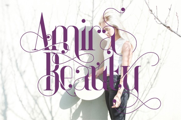 Print on Demand: Amira Beauty Serif Font By Bdstrd Std