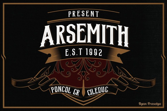 Print on Demand: Arsemith Display Font By LostvolType