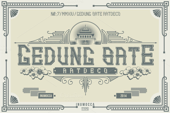 Artdeco Display Font By inumocca_type