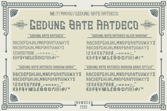 Print on Demand: Artdeco Display Font By inumocca_type - Image 2