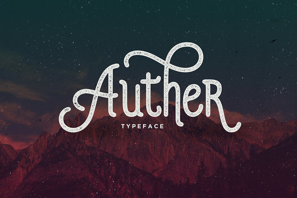 Auther Display Font By Seniors Studio