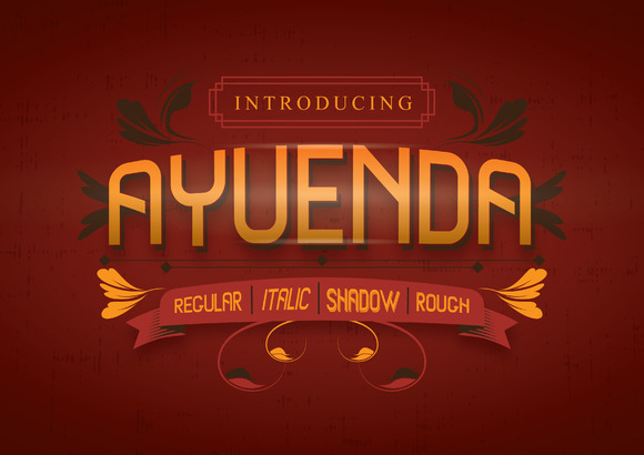 Print on Demand: Ayuenda Display Font By sandrifaqih
