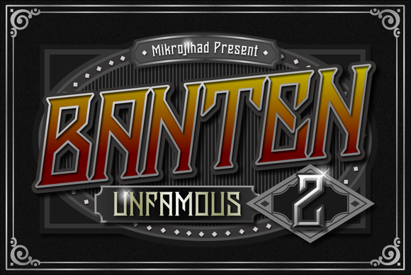 Print on Demand: Banten Unfamous 2 Display Font By Mikrojihad Typefounder