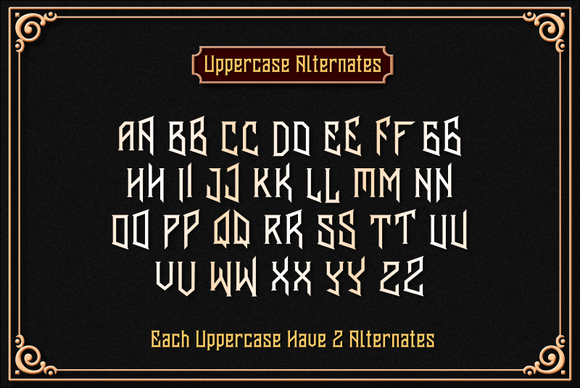 Print on Demand: Banten Unfamous 2 Display Font By Mikrojihad Typefounder - Image 3