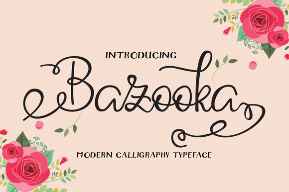 Print on Demand: Bazooka Script & Handwritten Font By Microcreative