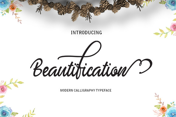 Print on Demand: Beautification Script & Handwritten Font By Alqawoms