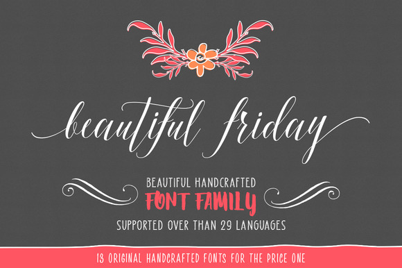 Beautiful Friday Font By LostvolType Image 2