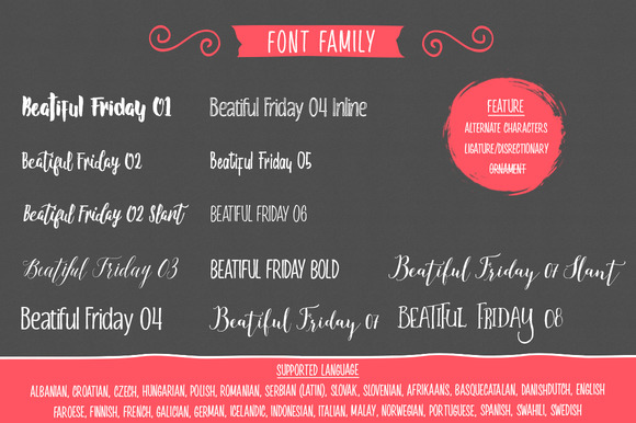 Beautiful Friday Font By LostvolType Image 3