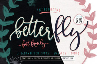 BetterFly Font By Blessed Print