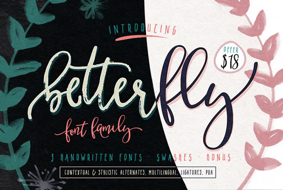 Print on Demand: BetterFly Script & Handwritten Font By Blessed Print