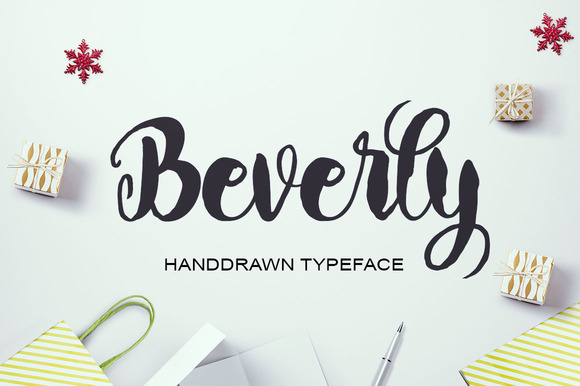 Print on Demand: Beverly Script & Handwritten Font By Polem