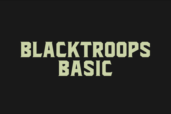 Print on Demand: Blacktroops Basic Sans Serif Font By Mikrojihad Typefounder