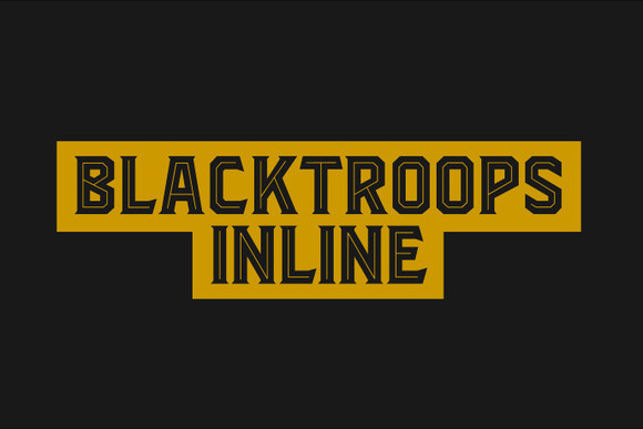 Print on Demand: Blacktroops Inline Display Font By Mikrojihad Typefounder