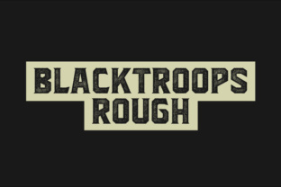 Blacktroops Rough Font by MikroJihad in Font Bundle Subscription 1