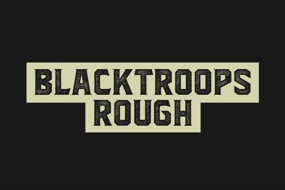 Print on Demand: Blacktroops Rough Exhibición Fuente Por Mikrojihad Typefounder