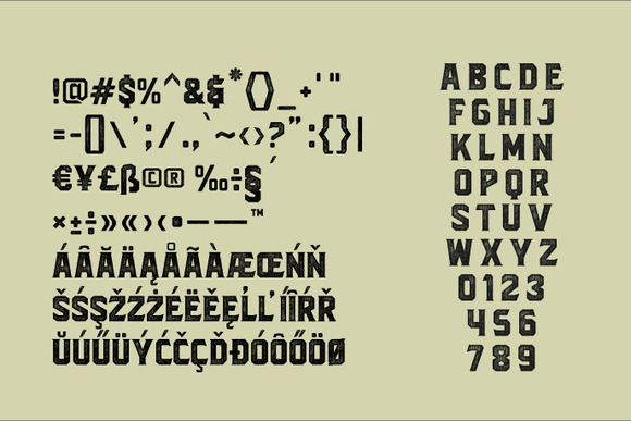 Print on Demand: Blacktroops Rough Display Font By Mikrojihad Typefounder - Image 2