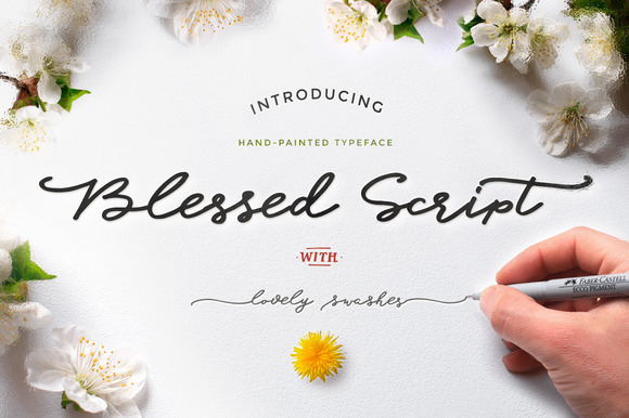 Print on Demand: Blessed Script Manuscrita Fuente Por Blessed Print