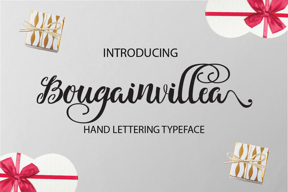 Bougainvillea Font By Alqawoms