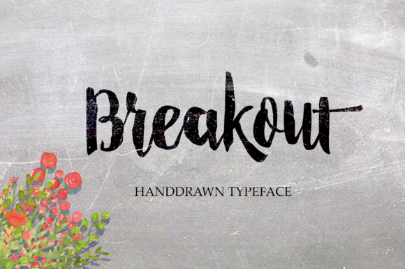 Print on Demand: Breakout Script & Handwritten Font By Alqawoms