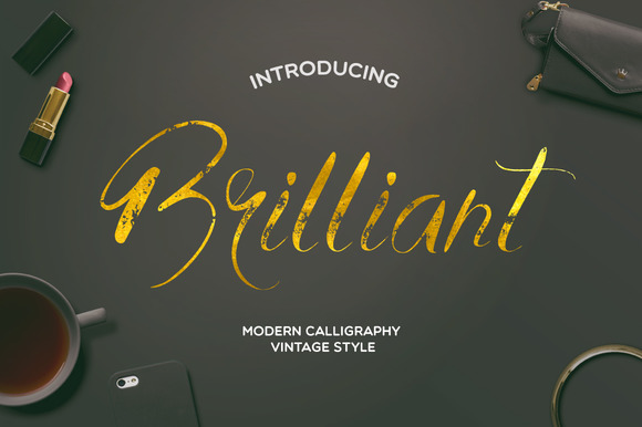 Print on Demand: Brilliant Display Font By Mellow Design Lab
