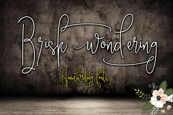 Print on Demand: Brisk Wondering Script & Handwritten Font By Moriztype