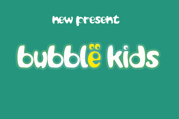 Print on Demand: Bubble Kids Display Font By Cooldesignlab